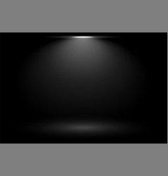 Black background with focus spot light vector