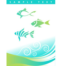 blue abstract aquatic background vector image
