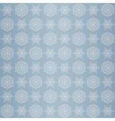 Christmas seamless pattern with snowflake blue vector image