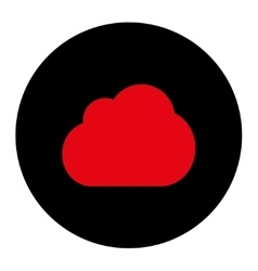 Cloud flat intensive red and black colors round vector