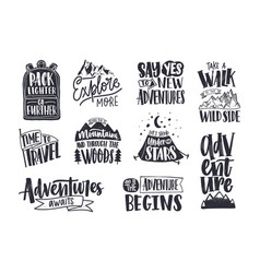collection written phrases slogans or quotes vector image