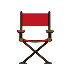 color image cartoon cinema director chair vector image
