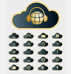 Computer cloud with elements of a set vector