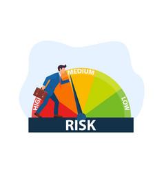 Concept risk on speedometer vector