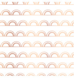 copper foil doodle arcs seamless background vector image