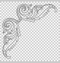 Corner baroque ornament decoration element vector