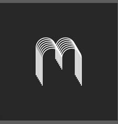 Creative monogram m letter logo 3d isometric vector
