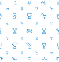 cup icons pattern seamless white background vector image