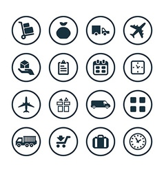 delivery icons universal set vector image
