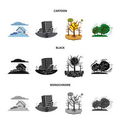 design of natural and disaster symbol vector image