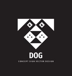 dog head concept logo design vector image