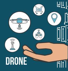 Drone technology futuristic vector