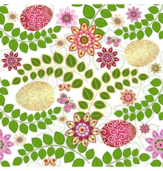 Easter seamless floral pattern vector image