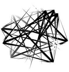 Edgy pointed random overlapping shapes abstract vector