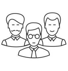 engineers team line icon sign vector image