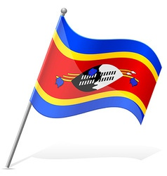 flag of Swaziland vector image