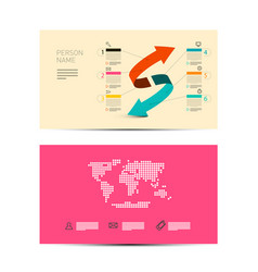 front and back paper business invitation card vector image