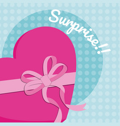gift box surprise card vector image