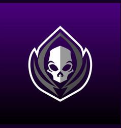 grim reaper gaming mascot or e sports logo design vector image