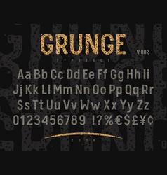 grunge font 002 vector image