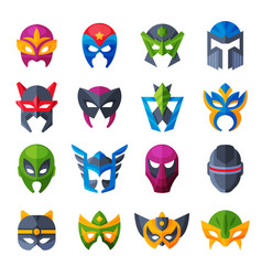 hero mask superhero face masque and masking vector image
