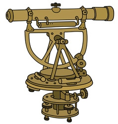 Historical brass surveying meter vector