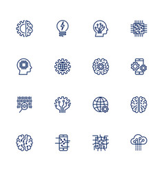 Icon set for artificial intelligence vector