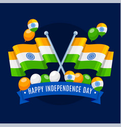 Indian independence day tri color flag vector