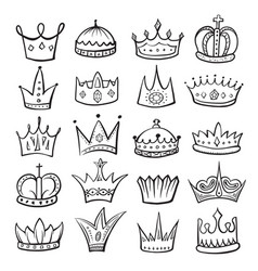 king crown sketch icon monarch and royalty emblem vector image