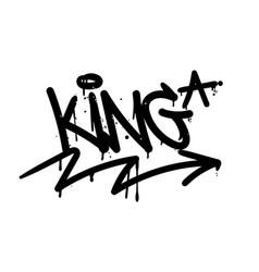 King graffiti tag vector