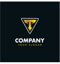 letter t emblem logo logotype design vector image