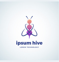 Lorem ipsum hive technology absrtract sign vector