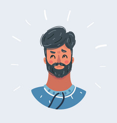 Man is thinking question expression on her face vector