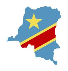 Map democratic republic congo - flag vector
