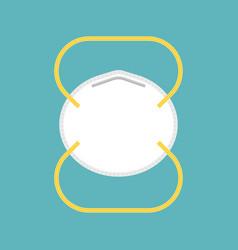 Medical or industrial mask in flat design vector