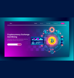modern flat design cryptocurrency exchange vector image