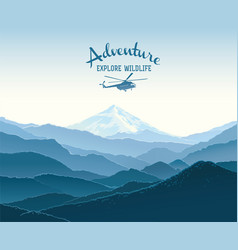 Mountain landscape and design element vector