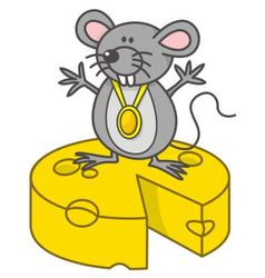 mouse champion vector image