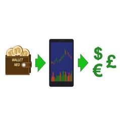 Online exchange of neo coins to currencies vector