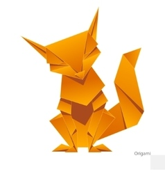 Origami paper fox vector image