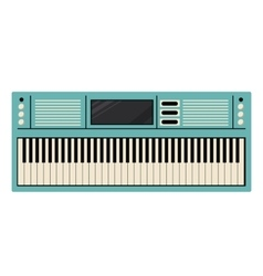 Piano keyboard instrument design vector