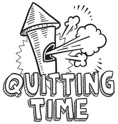 Quitting time vector