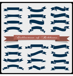 Retro styled ribbons banners vector
