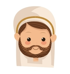 Saint joseph icon vector