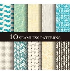 seamless modern patterns vector image