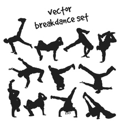 Set of break dancers vector