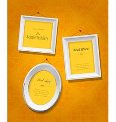 Set of empty picture frames for your own image or vector image