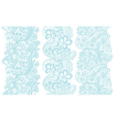 set of lacy vintage elegant trims vector image