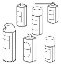 set of spray can vector image