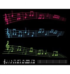 sheet music vector image